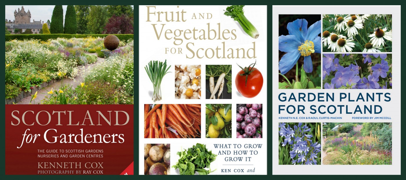 books- 3 Scottish Garden Books