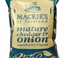 Mackies mature cheddar & Onion crisps for your Scottish snack
