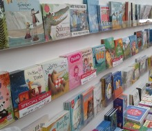 Our selection of kids books in our children's department