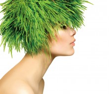 lawn grass hair model shutterstock_135459209