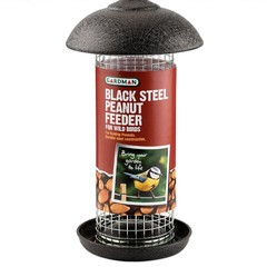 bird Feeder black_steel_peanut_medium
