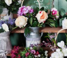 Flowers in milk churn lifestyle flower arranging