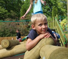 Keep your balance perfect at Glendoick Playpark near Dundee