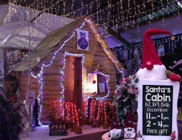 Visit Santa in his Woodland Cabin
