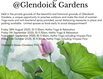 Late summer outdoor yoga in the beautiful grounds of Glendoick Gardens with Elevate Yoga Scotland