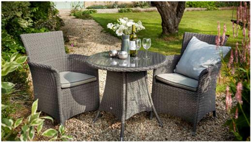 This Stylish Resin Weave Bistro Set Is Ideal For Patio Lawn Or Conservatory